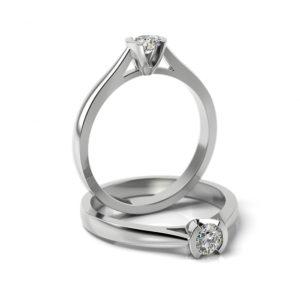 Zásnubný prsteň s diamantom ZP 329