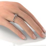 Zásnubný prsteň so zirkónom ZP 329 2
