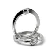Zásnubný prsteň s diamantom ZP 330