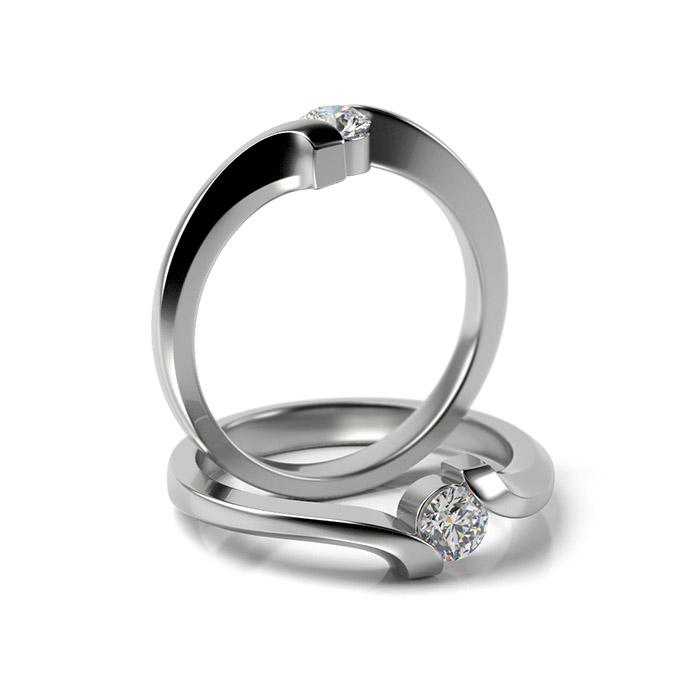 Zásnubný prsteň s diamantom ZP 330 1