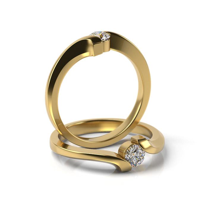 Zásnubný prsteň s diamantom ZP 330 3