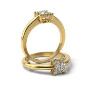 Zásnubný prsteň s diamantom ZP 331 3