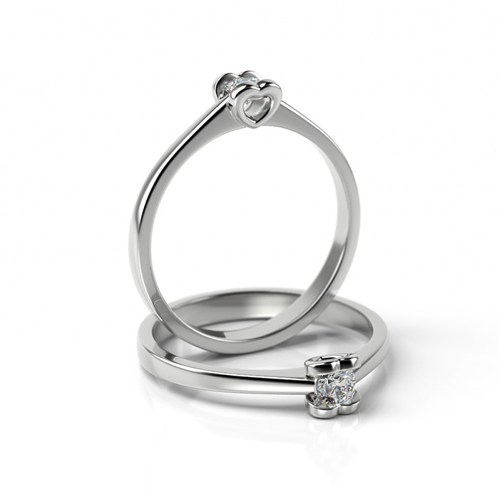 Zásnubný prsteň s diamantom ZP 332 1