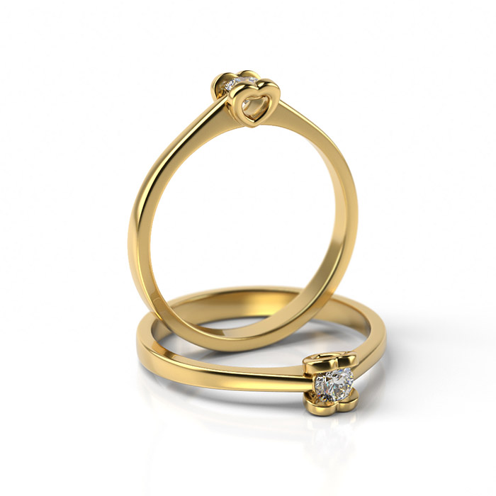 Zásnubný prsteň s diamantom ZP 332 3