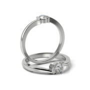 Zásnubný prsteň so zirkónom ZP 333