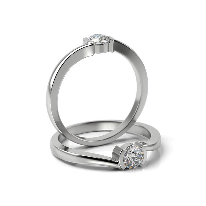Zásnubný prsteň so zirkónom ZP 333 1