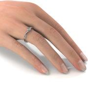 Zásnubný prsteň so zirkónom ZP 333 2