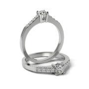 Zásnubný prsteň so zirkónom ZP 334