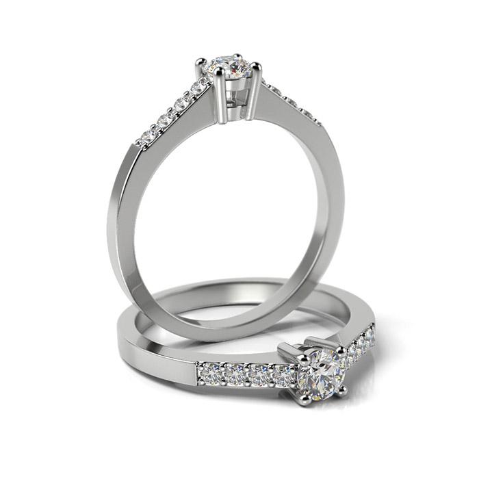 Zásnubný prsteň s diamantom ZP 334 1