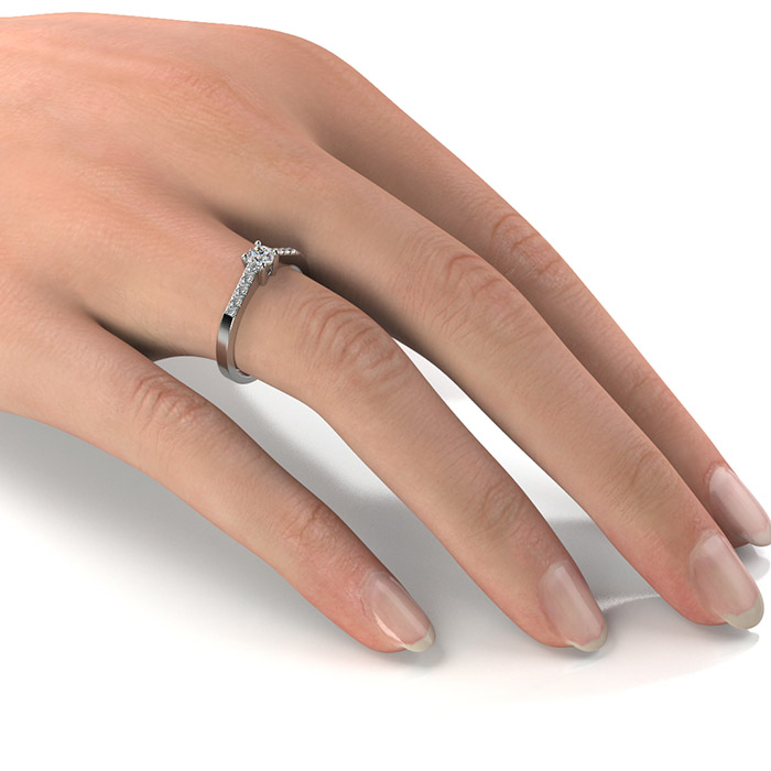 Zásnubný prsteň s diamantom ZP 334 2