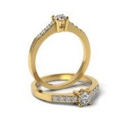 Zásnubný prsteň s diamantom ZP 334 3