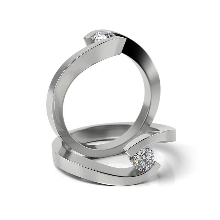 Zásnubný prsteň so zirkónom ZP 335 1