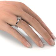 Zásnubný prsteň so zirkónom ZP 335 2