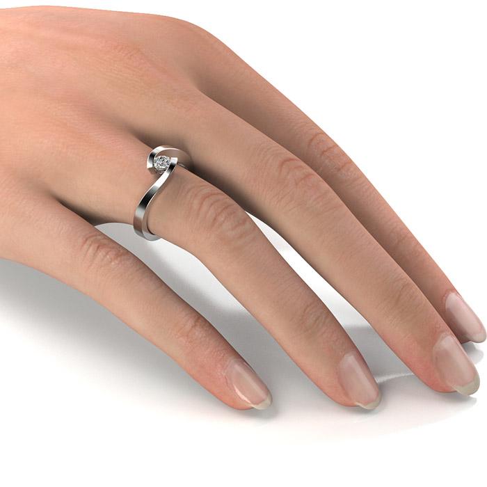 Zásnubný prsteň s diamantom ZP 335 2