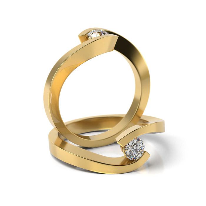 Zásnubný prsteň so zirkónom ZP 335 3