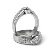 Zásnubný prsteň so zirkónom ZP 336 1