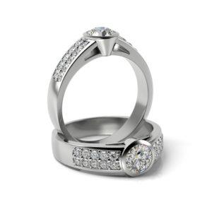Zásnubný prsteň s diamantom ZP 336