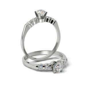 Zásnubný prsteň s diamantom ZP 338