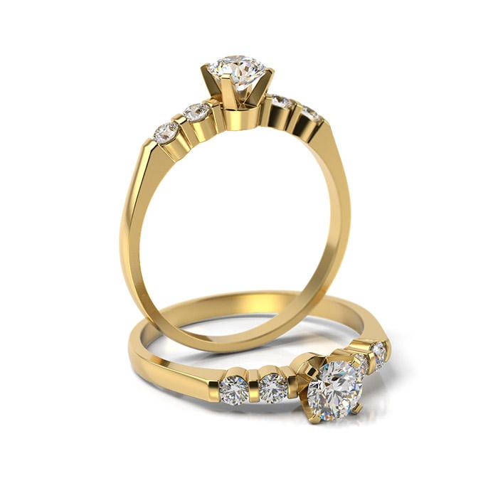 Zásnubný prsteň s diamantom ZP 338 3