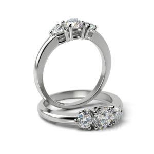 Zásnubný prsteň so zirkónom ZP 339