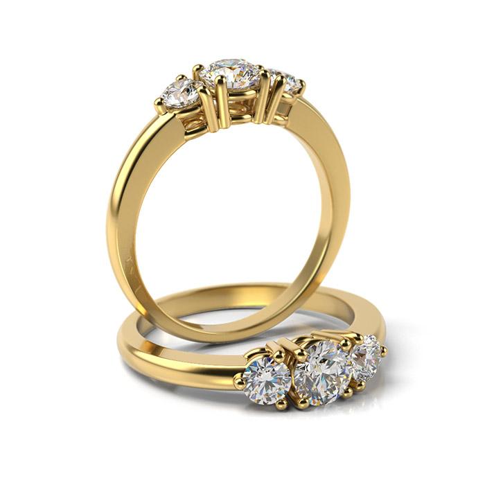 Zásnubný prsteň s diamantom ZP 339 3