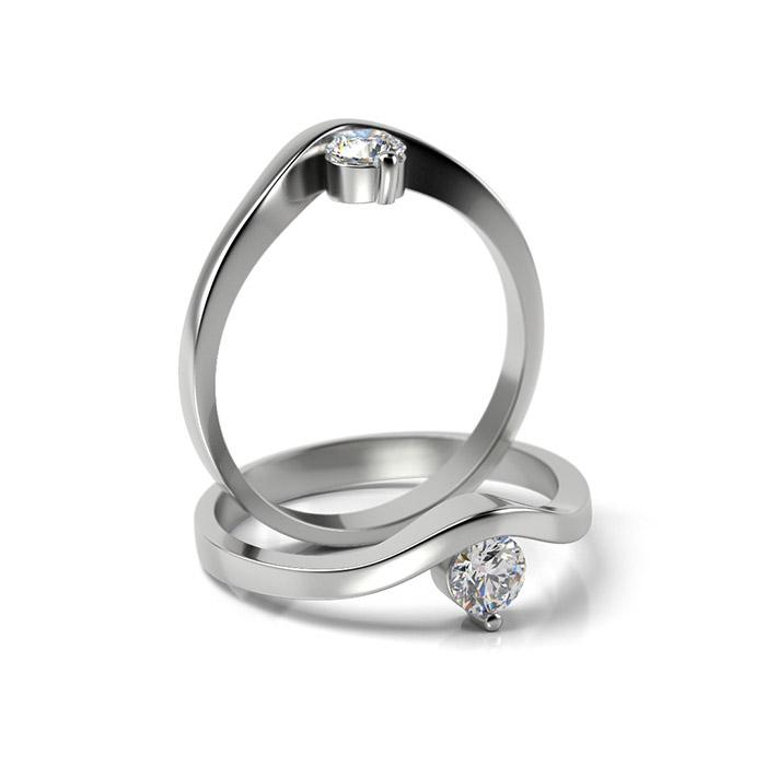 Zásnubný prsteň s diamantom ZP 340
