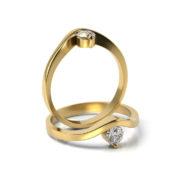 Zásnubný prsteň so zirkónom ZP 340 3