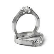 Zásnubný prsteň s diamantom ZP 341 1