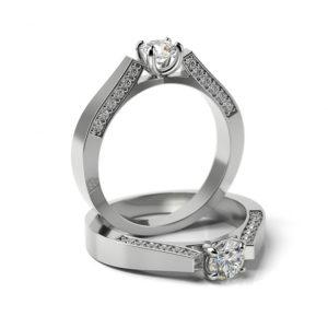 Zásnubný prsteň s diamantom ZP 341