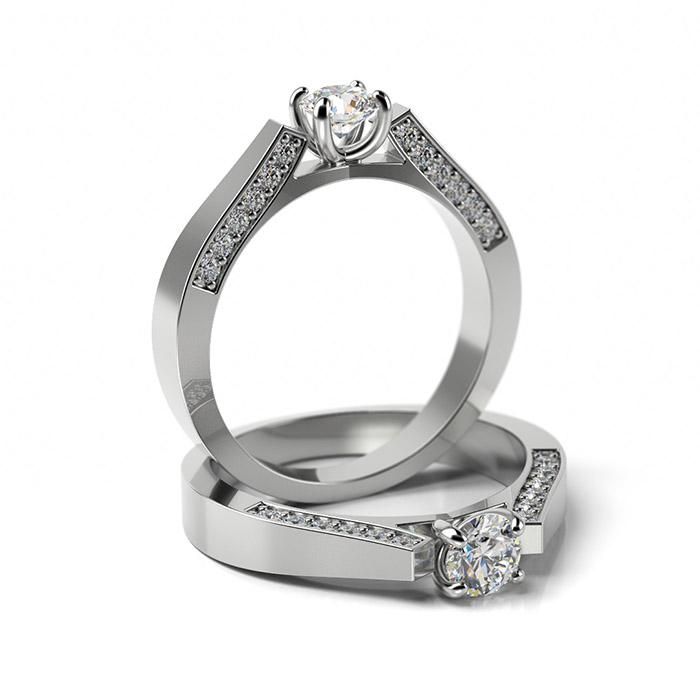 Zásnubný prsteň so zirkónom ZP 341 1