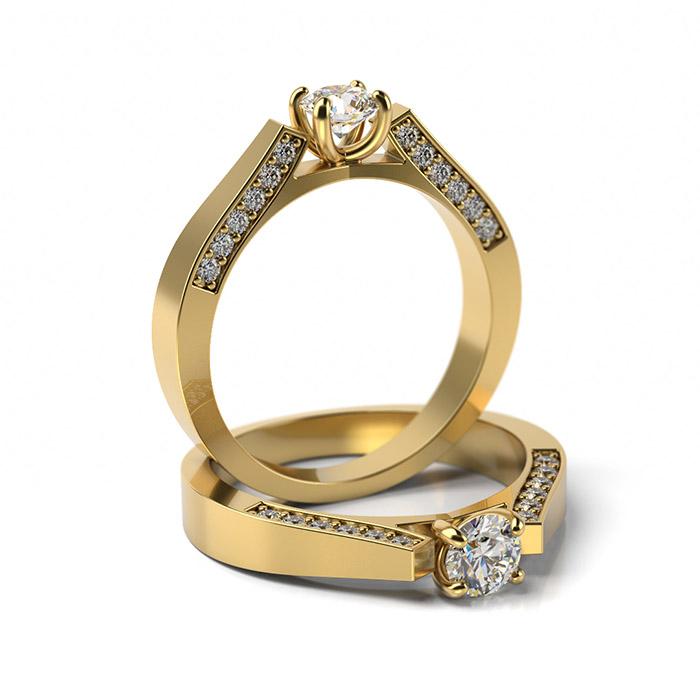 Zásnubný prsteň so zirkónom ZP 341 3