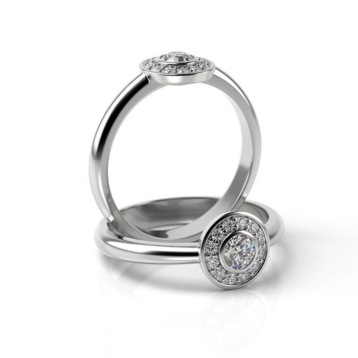 Zásnubný prsteň so zirkónom ZP 343 1