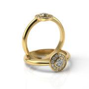 Zásnubný prsteň s diamantom ZP 343 3