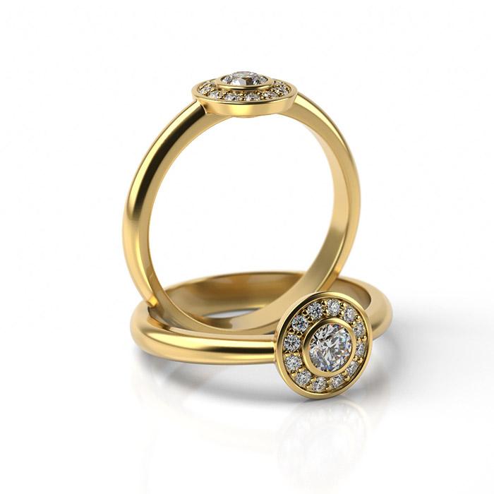 Zásnubný prsteň so zirkónom ZP 343 3