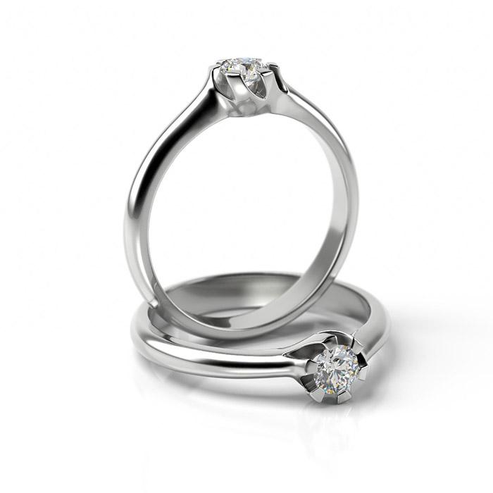 Zásnubný prsteň s diamantom ZP 344 1