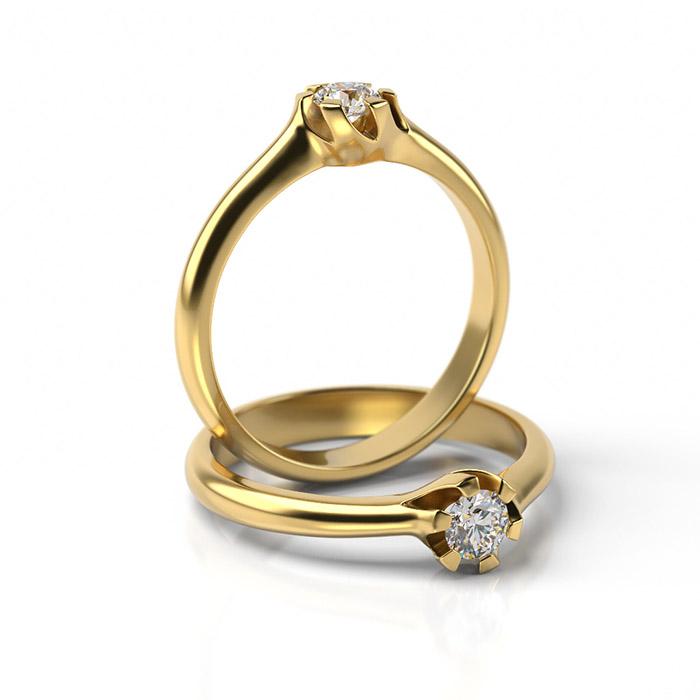 Zásnubný prsteň s diamantom ZP 344 3