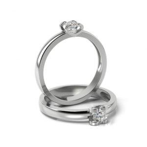 Zásnubný prsteň s diamantom ZP 346