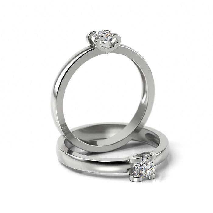 Zásnubný prsteň so zirkónom ZP 346 1