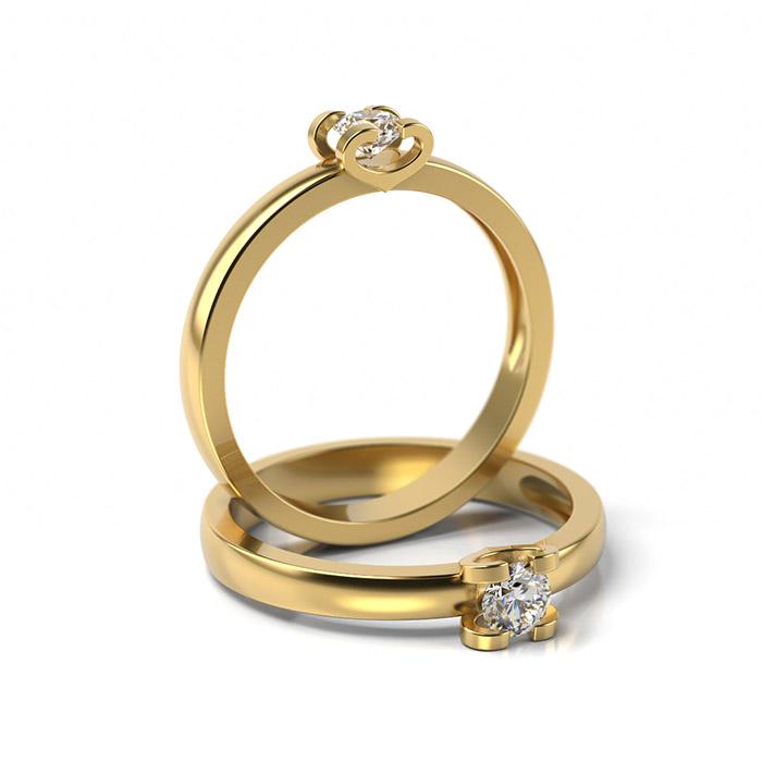 Zásnubný prsteň so zirkónom ZP 346 3