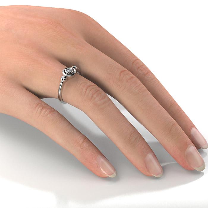 Zásnubný prsteň s diamantom ZP 347 2