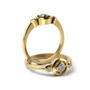Zásnubný prsteň s diamantom ZP 347 3