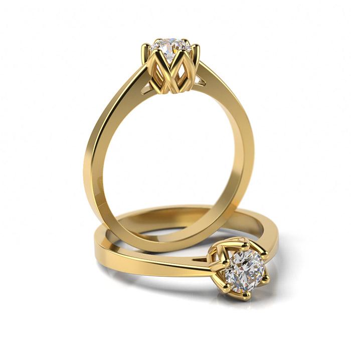Zásnubný prsteň so zirkónom ZP 349 3