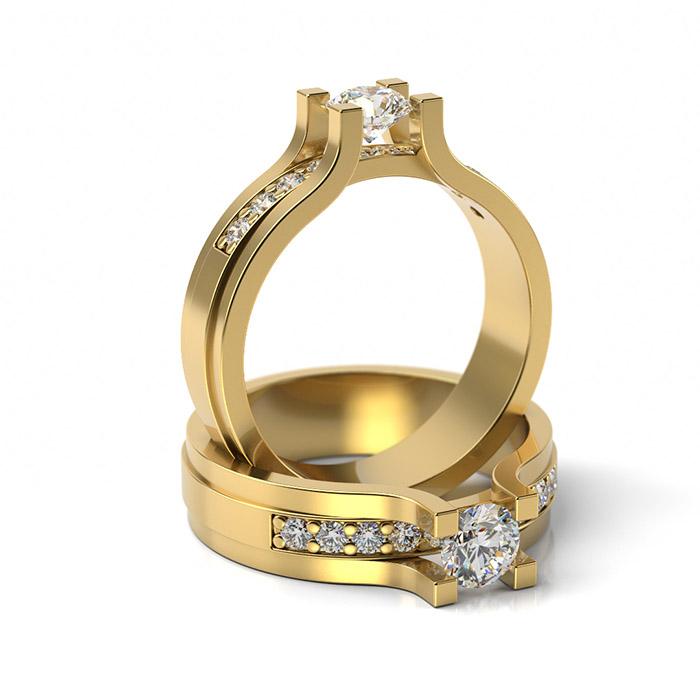 Zásnubný prsteň s diamantom ZP 350 3