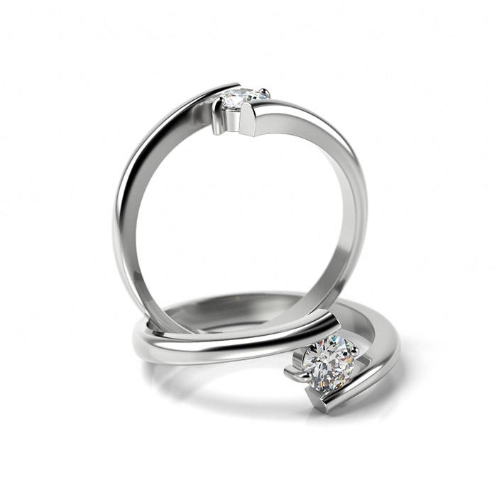 Zásnubný prsteň so zirkónom ZP 351 1