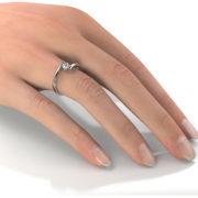 Zásnubný prsteň so zirkónom ZP 351 2