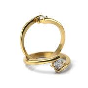 Zásnubný prsteň so zirkónom ZP 351 3