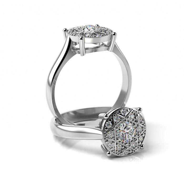 Zásnubný prsteň so zirkónom ZP 352 1