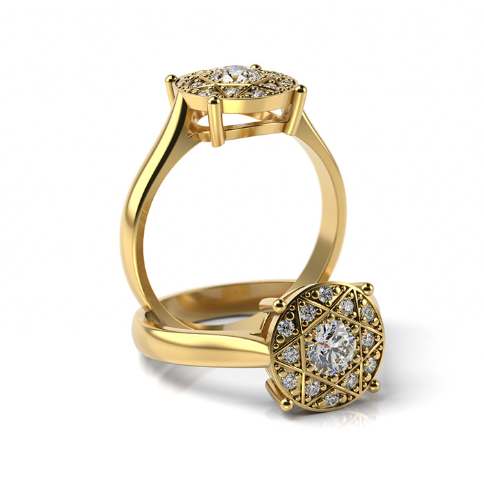 Zásnubný prsteň so zirkónom ZP 352 3