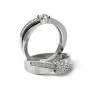 Zásnubný prsteň so zirkónom ZP 354 1