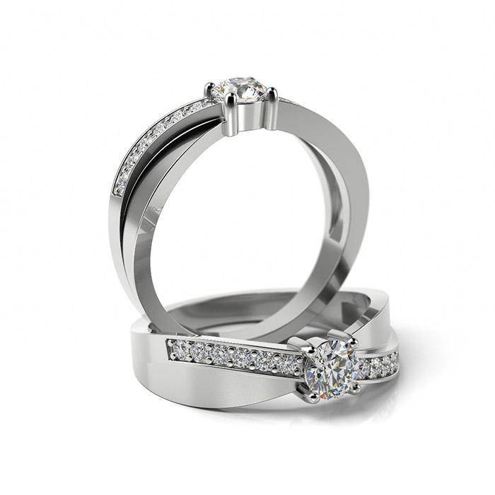 Zásnubný prsteň s diamantom ZP 354 1